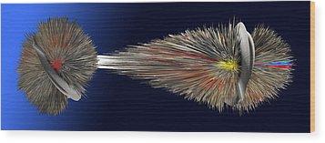 Digital Abstract Work Wood Print by Emil Jianu