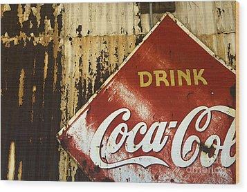 Drink Coca Cola  Memorbelia Wood Print by Bob Christopher