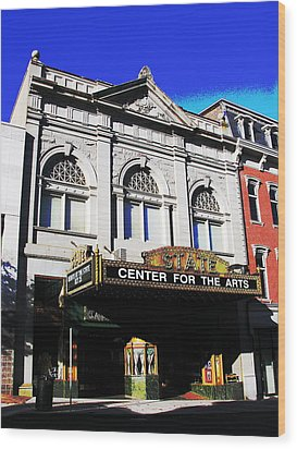 Easton Pa State Theater Center For The Arts Wood Print by Jacqueline M Lewis