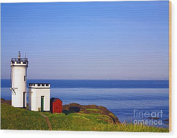 Elie Lighthouse Wood Print