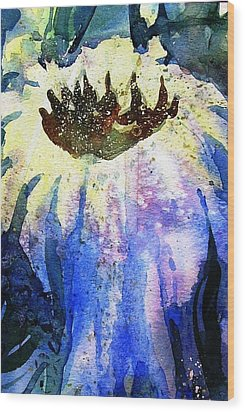 End Of Summer Sunflower Glow Wood Print by Trudi Doyle