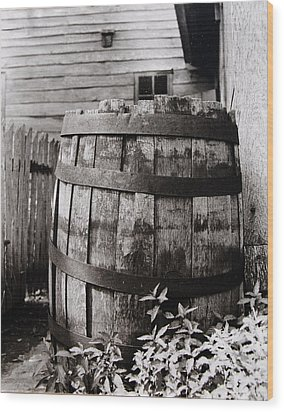 Wood Print featuring the photograph  Ephrata Cloisters Barrel by Jacqueline M Lewis