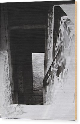 Wood Print featuring the photograph  Ephrata Cloisters Stairway by Jacqueline M Lewis