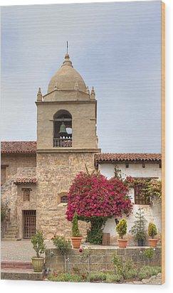 Facade Of The Chapel Mission San Carlos Borromeo De Carmelo Wood Print by Ken Wolter