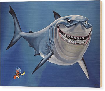 Finding Nemo Painting Wood Print by Paul Meijering