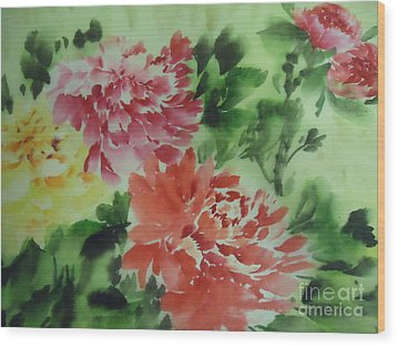 Flower 0727-1 Wood Print by Dongling Sun