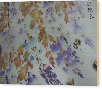 Flower0727-5 Wood Print by Dongling Sun