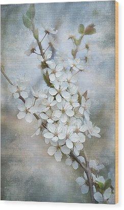 Flowering Tree Wood Print by Gynt Art