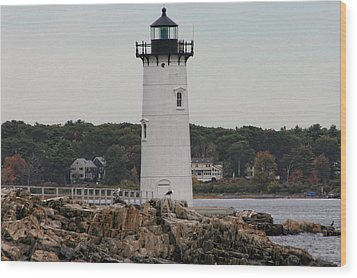 Fort Constitution Light Wood Print