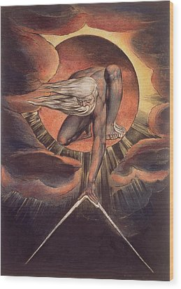 Frontispiece From 'europe. A Prophecy' Wood Print by William Blake
