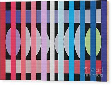 Fun Geometric  Wood Print by Mark Ashkenazi