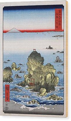 Futamigaura In Ise Province Wood Print by Georgia Fowler