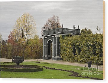 Wood Print featuring the photograph  Garden Gate Schonbrunn Palace Vienna Austria by Imran Ahmed