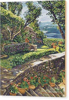 Garden Stairway Wood Print by David Lloyd Glover