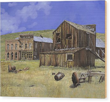 Ghost Town Of Bodie-california Wood Print by Guido Borelli