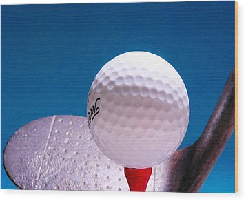 Golf Wood Print by David and Carol Kelly