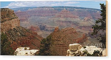 Grand Canyon Panoramic Wood Print by The Kepharts