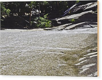 Granite River Wood Print