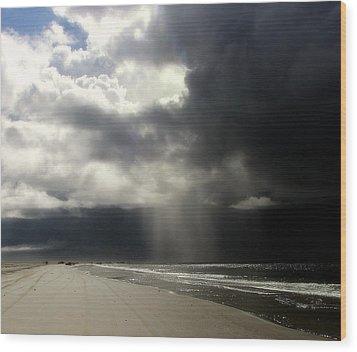 Hurricane Glimpse Wood Print by Karen Wiles