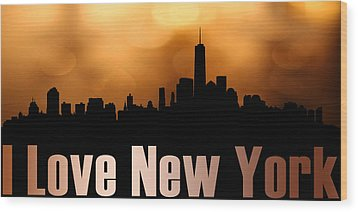 I Love New York Wood Print by Tommytechno Sweden