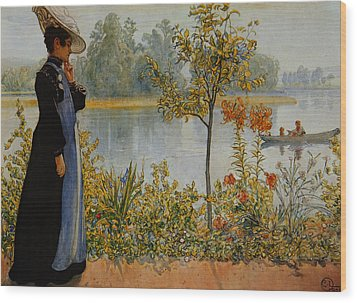 Indian Summer Wood Print by Carl Larsson