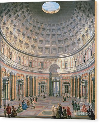 Interior Of The Pantheon Wood Print by Panini