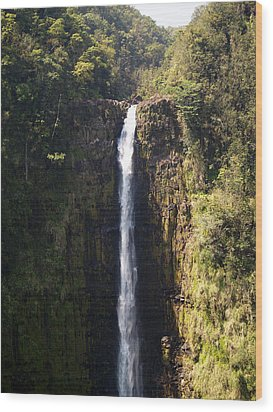 Island Waterfalls Wood Print
