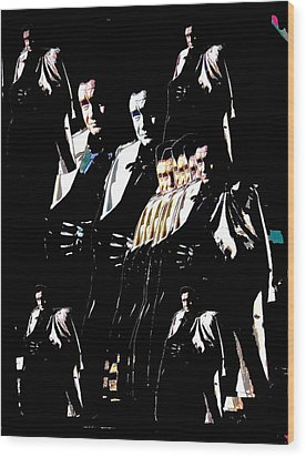 Wood Print featuring the photograph  Johnny Cash Multiplied  by David Lee Guss