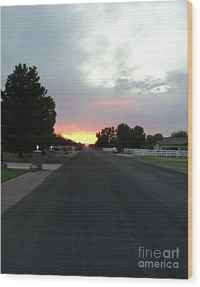 Journey Into The Sunset Wood Print by Carla Carson