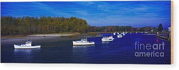 Wood Print featuring the photograph  Kennnepunkport Harbor  Maine  by Tom Jelen