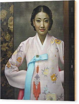 Korean Girls Wood Print