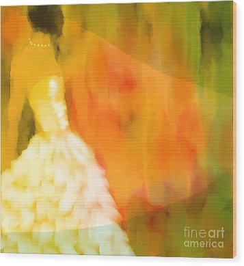 Last Dance Wood Print by Hilda Lechuga