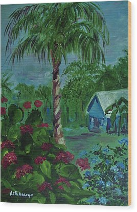 Wood Print featuring the painting   Life's  Way by Beth Arroyo