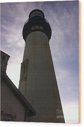 Light House Sky Wood Print by Susan Garren