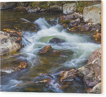 Linville Falls  Wood Print by Patricia Schaefer