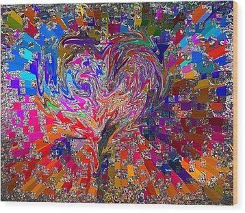Love Chameleon Wood Print