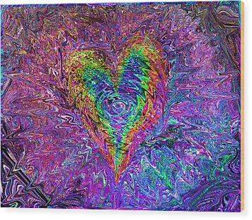 Love From The Ripple Of Thought  V 5  Wood Print