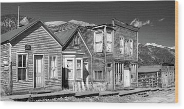 Wood Print featuring the photograph  Main Street St Elmo Colorado by Harold Rau