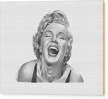 Marilyn Monroe - 034 Wood Print by Abbey Noelle