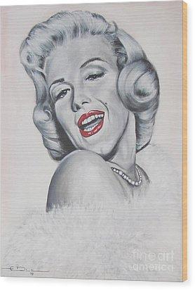 Marilyn Monroe Wood Print by Eric Dee