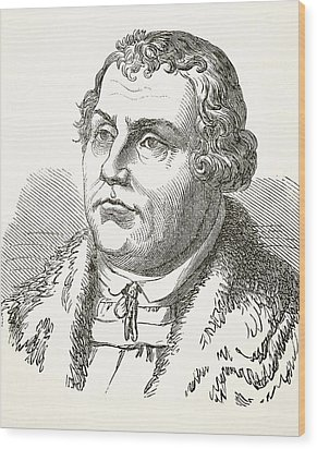 Martin Luther  Wood Print by English School