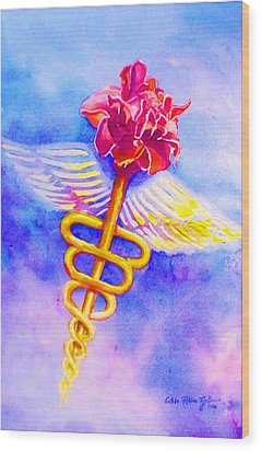 Medical Angel  Wood Print by Estela Robles