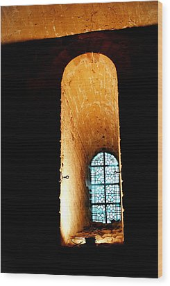 Wood Print featuring the photograph  Meditation - Deep Window Mont St Michel by Jacqueline M Lewis
