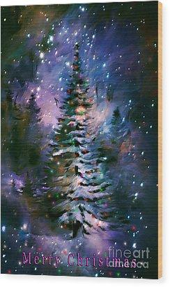 Merry Christmas Wood Print by Andrzej Szczerski