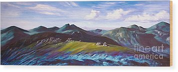 Mourne Mountains 1 Wood Print by Anne Marie ODriscoll