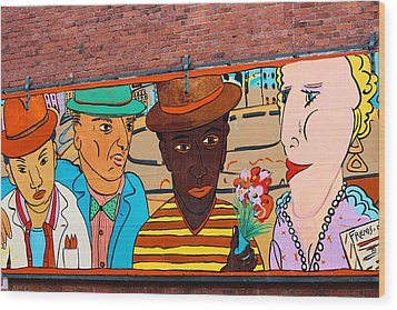 Mural Wall Art In Seattle Wood Print by Kym Backland