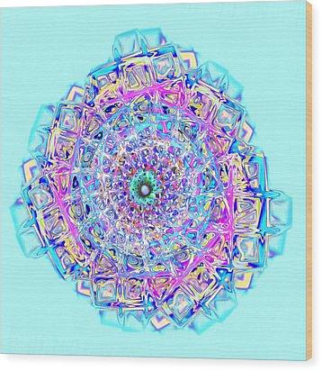 Murano Glass - Blue Wood Print by Anastasiya Malakhova