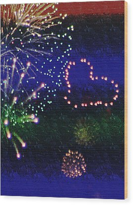 My 4th Of July Wood Print by Janie Johnson