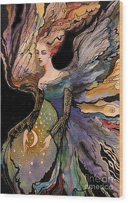 My Guardian Angel Wood Print by Valentina Plishchina