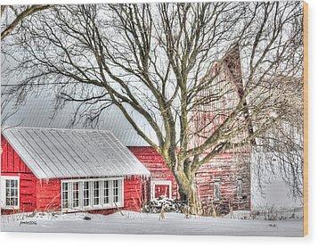 Oak Valley Farm Wood Print